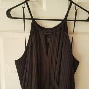Lane Bryant Pleated Little Black Dress